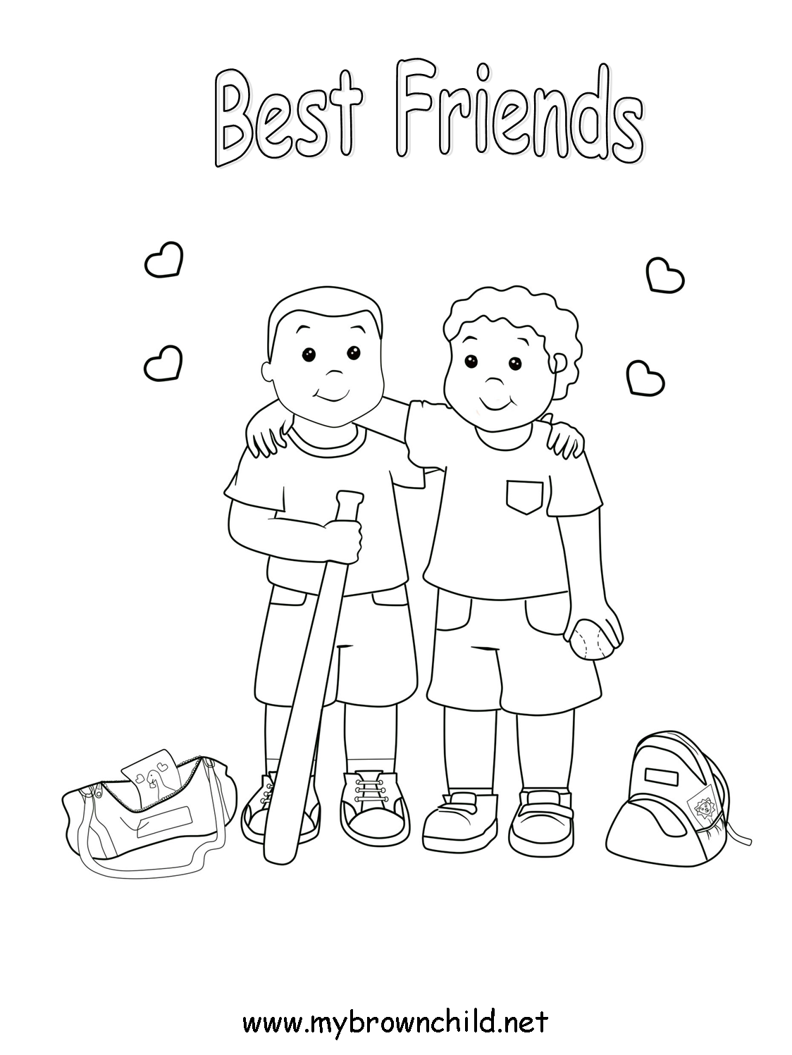 best friend coloring pages - Friendship Coloring Pages
