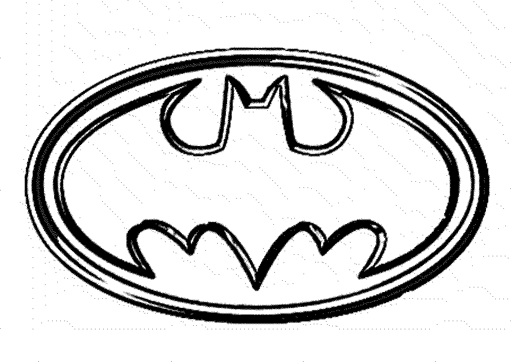 Batman logo coloring pages to download and print for free