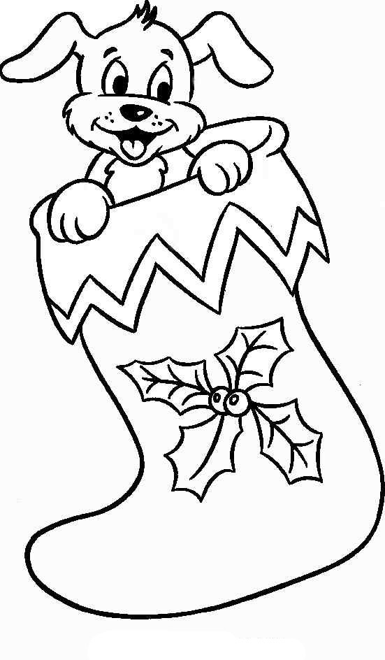 Stocking coloring pages download