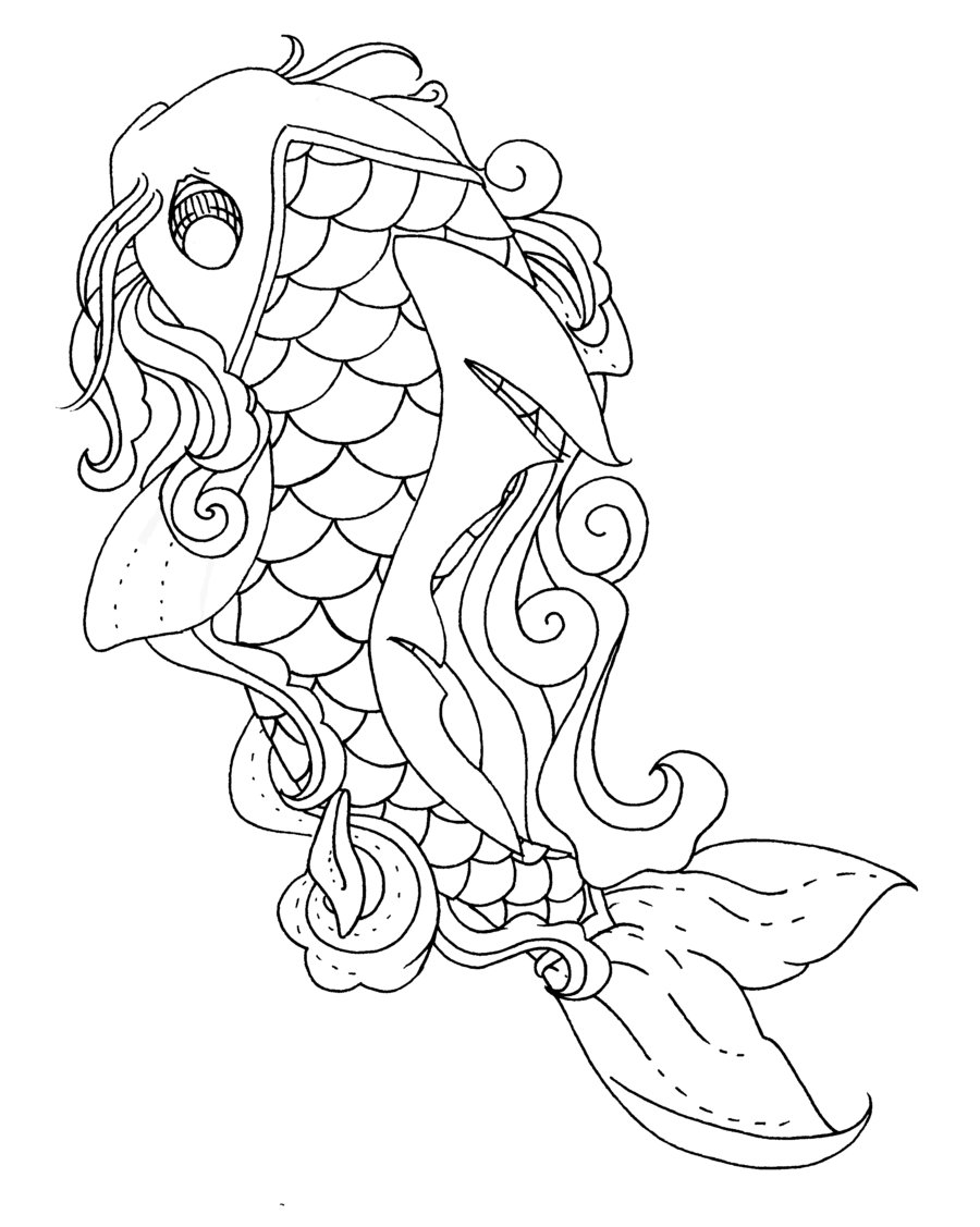Koi Fish Coloring Pages To Download And Print For Free Koi Fish Coloring Pages