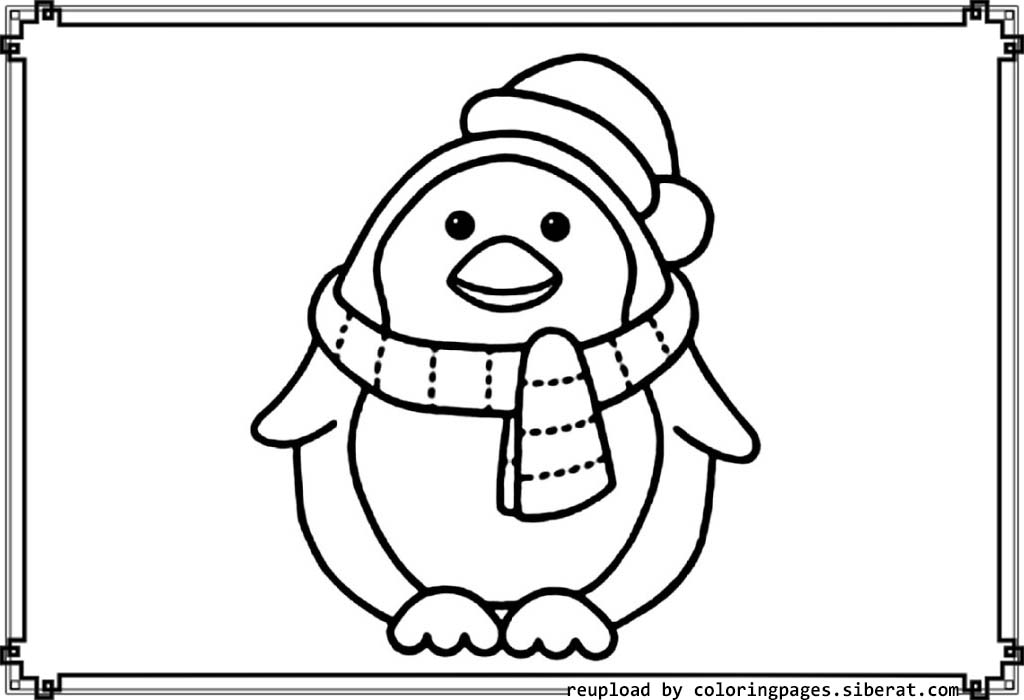 Cute penguin coloring pages download