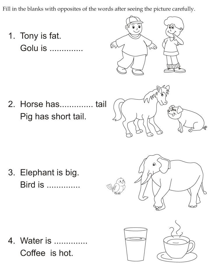 snapshot image of woodys big and small opposite worksheet 1 and 2 – Opposites Worksheet for Kindergarten