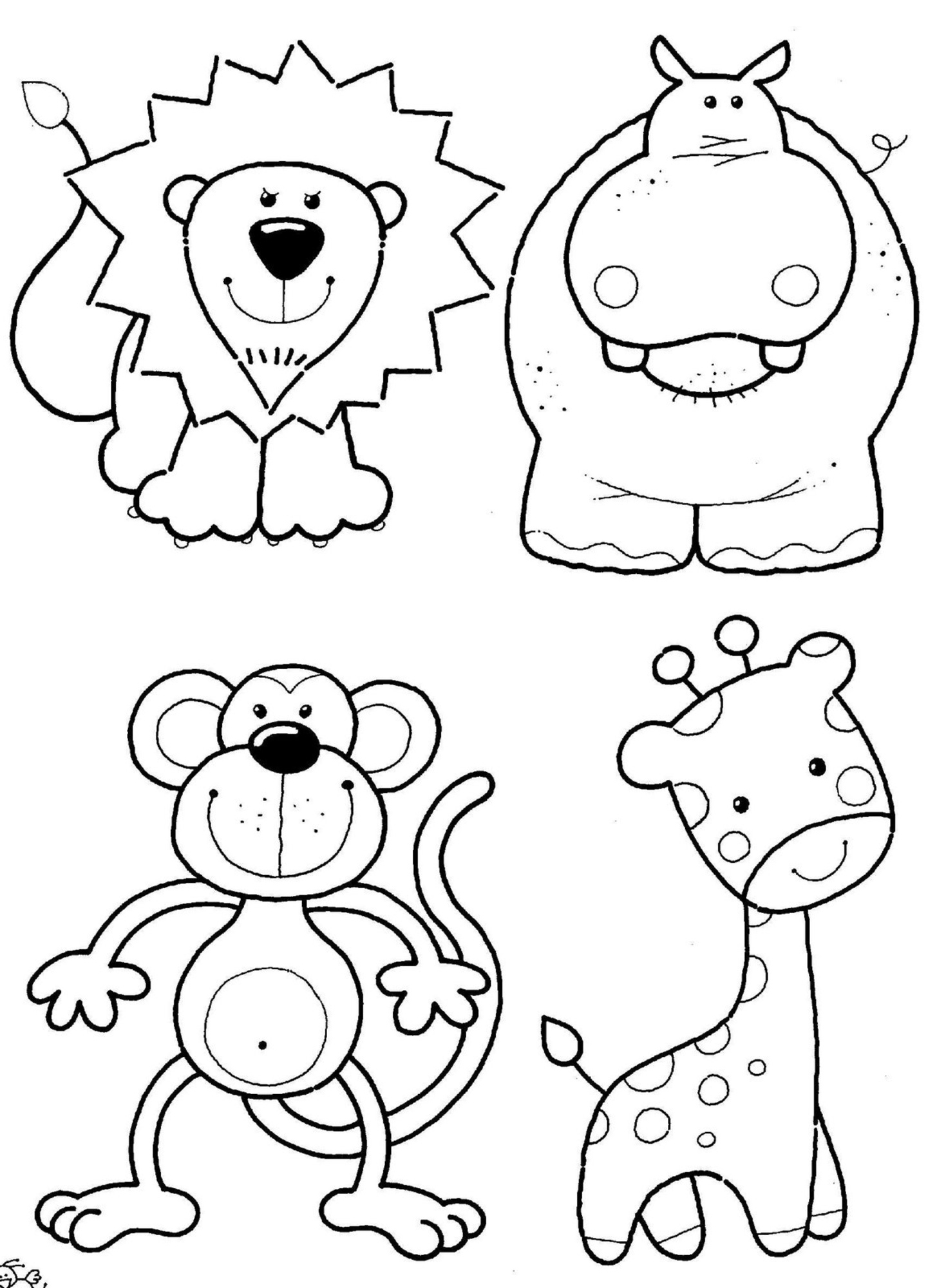 Printable coloring pages jungle - Jungle Safari Coloring Pages
