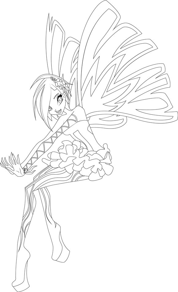 Winx Sirenix coloring pages to - 64.6KB