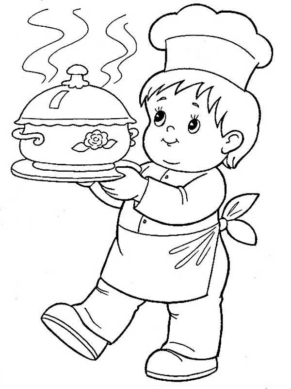 Cook coloring pages to download and print for free