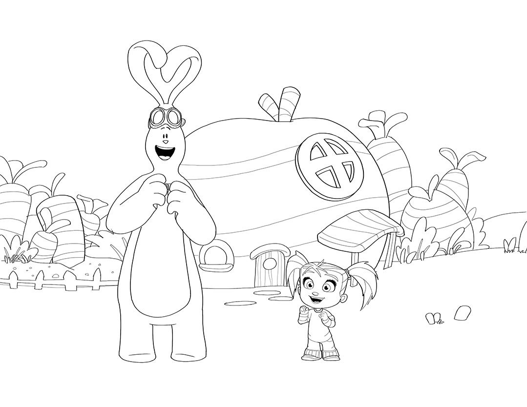 Kate and MimMim coloring pages