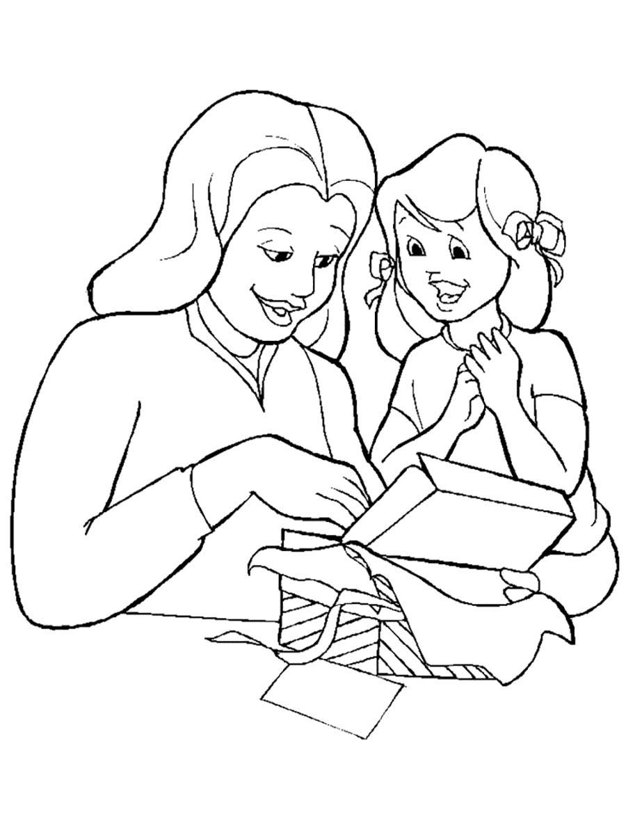 Mother And Daughter Coloring Pages To Download And Print