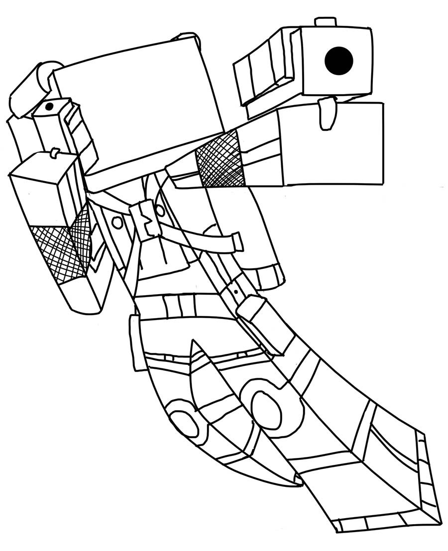 It is an image of Soft free coloring pages minecraft