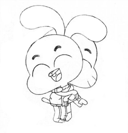 The Amazing World Of Gumball Coloring Pages To Download