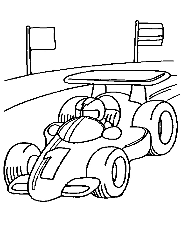 Race coloring pages to download