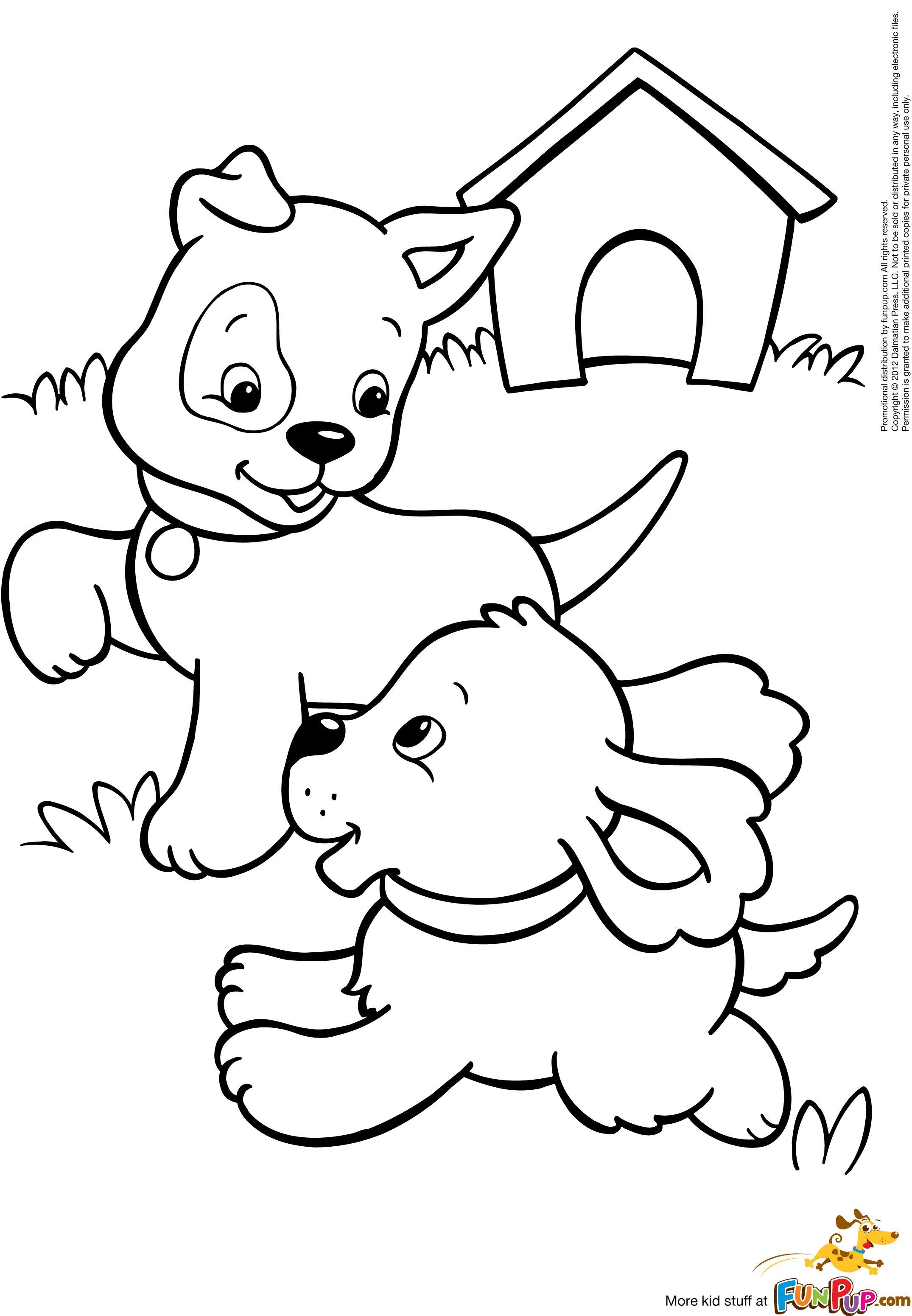 Coloring Book Pages Of Dogs : Realistic puppy coloring pages download and print for free