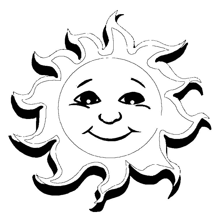 Sun coloring pages to download and print for free