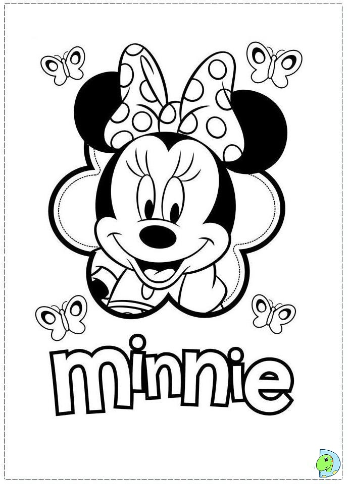 disney minnie mouse coloring pages download and print for free