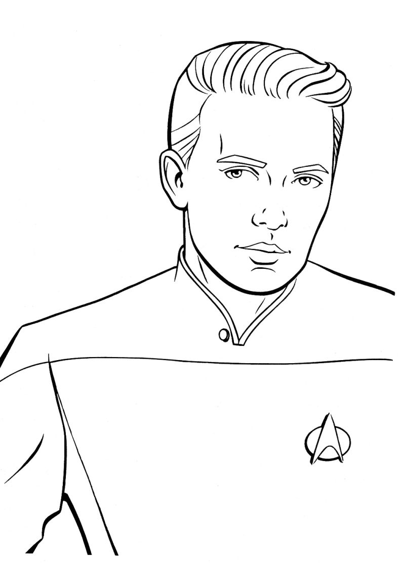 Star trek coloring pages to download