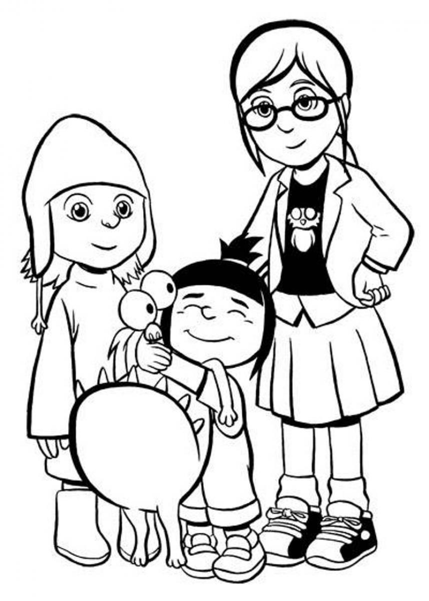 despicable me coloring pages download and print for free