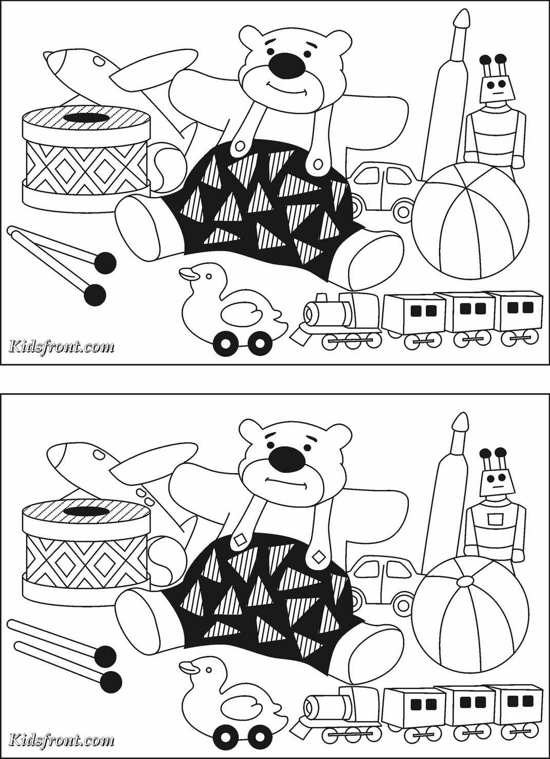 Spot the difference coloring pages