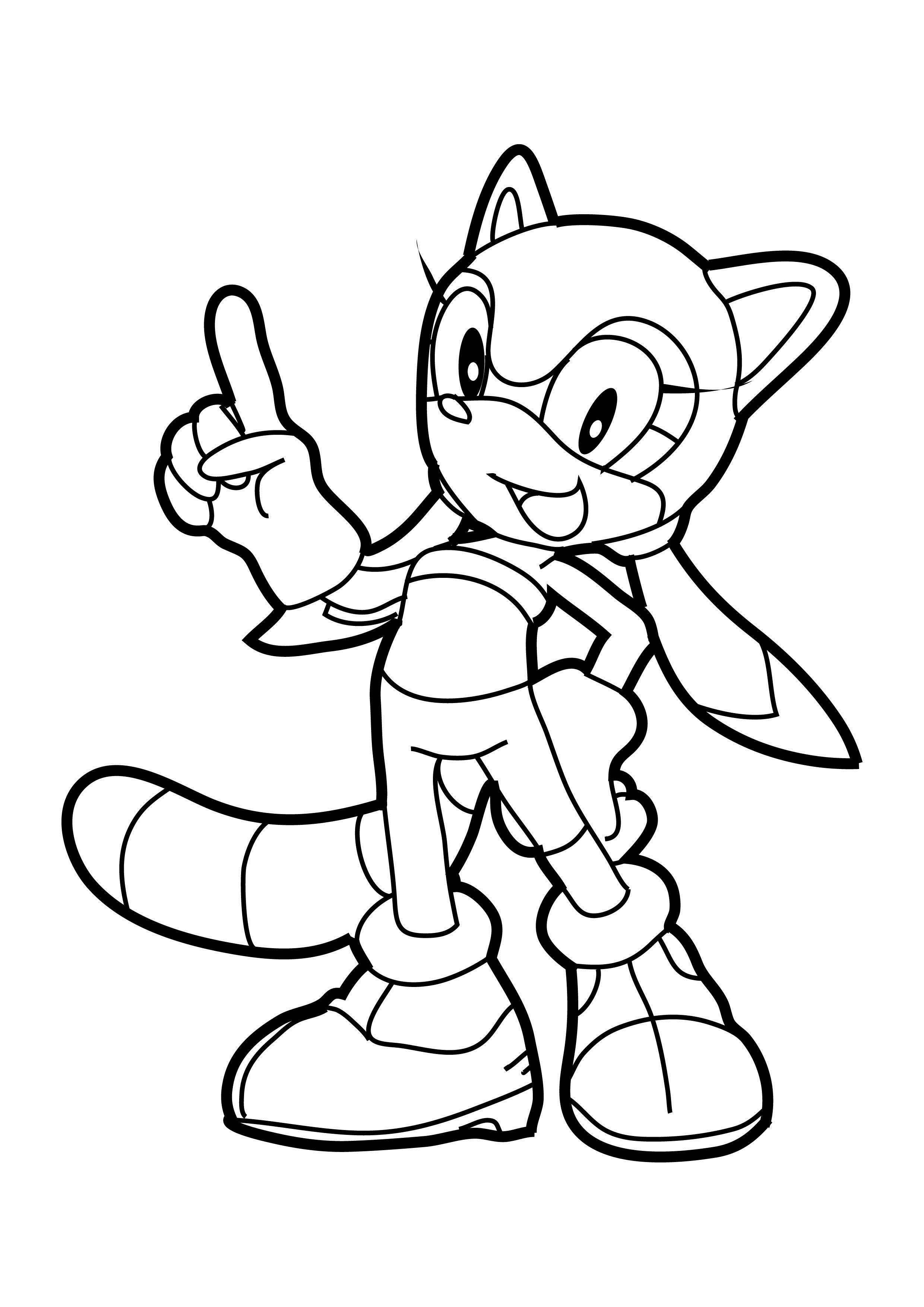 Sonic the hedgehog coloring pages to download and print for free