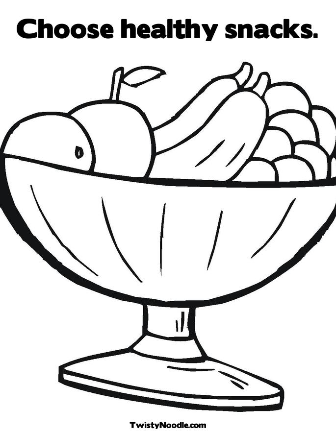 food and nutrition coloring pages - photo#25