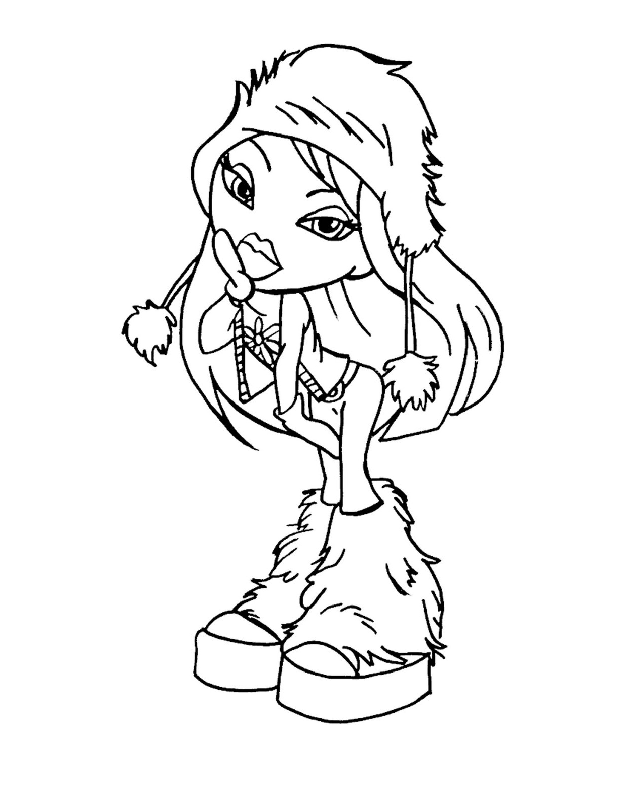 Bratz barbie coloring pages download