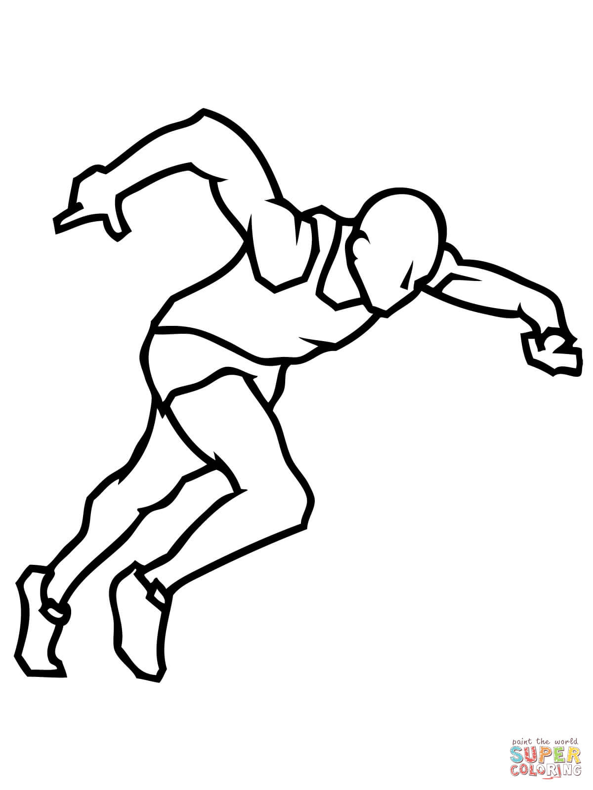 Athletes Coloring Pages Download And Print For Free