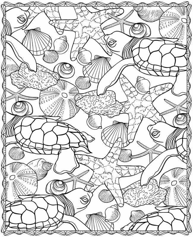 realistic sea life coloring pages