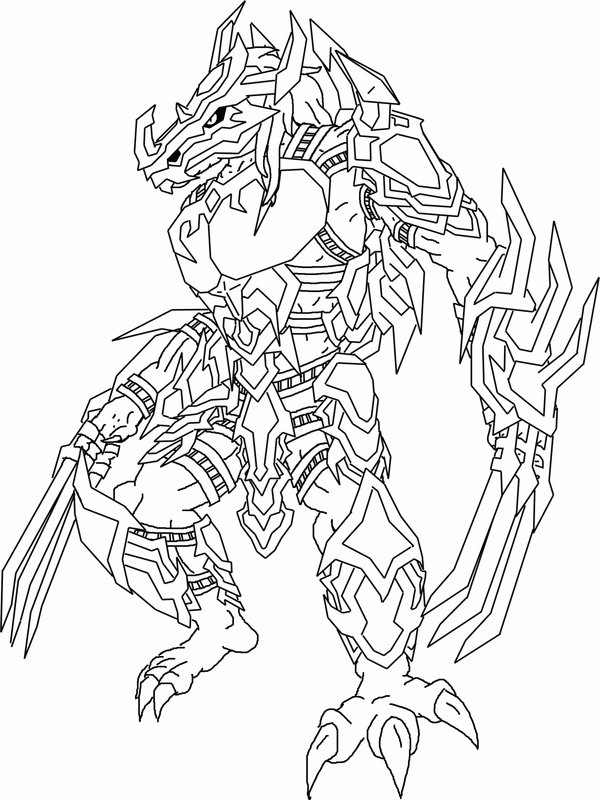 Greymon coloring pages download