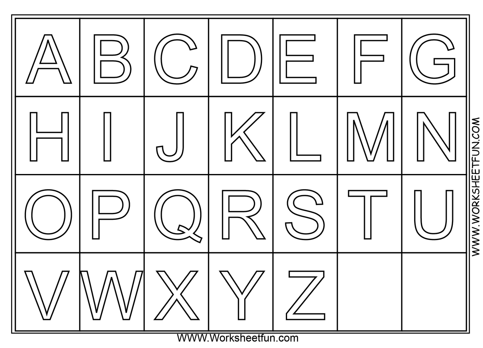 Coloring pages for alphabet - A Z Alphabet Coloring Pages