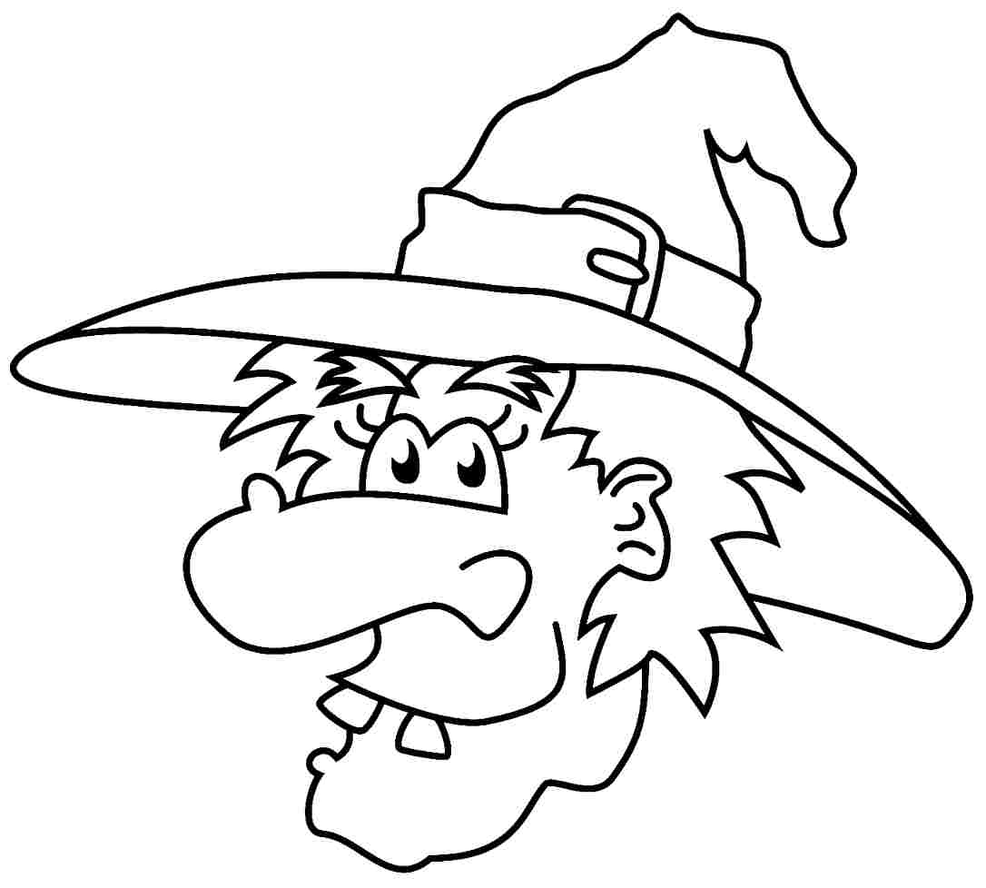 Witch coloring pages to download and print for free for Coloring pages of witches