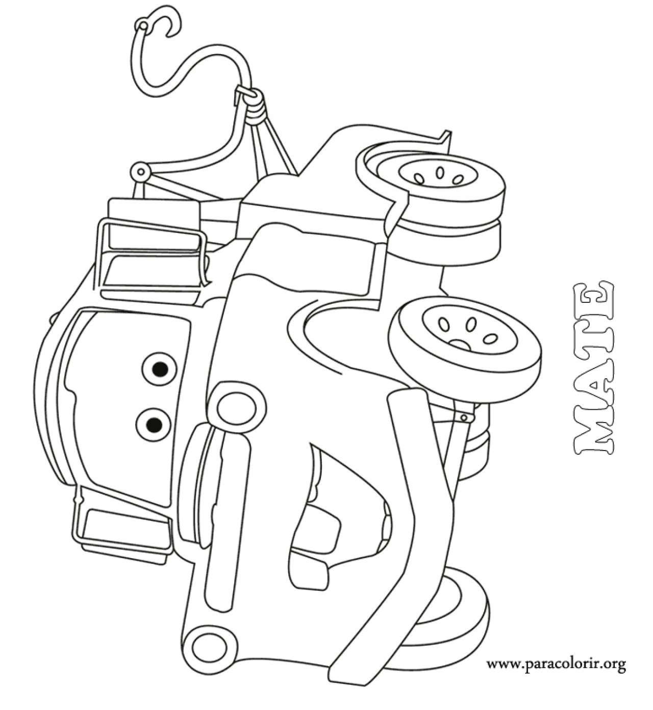 mater from cars coloring pages download and print for free