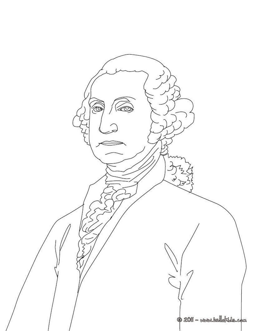 president george washington coloring pages download and print for free