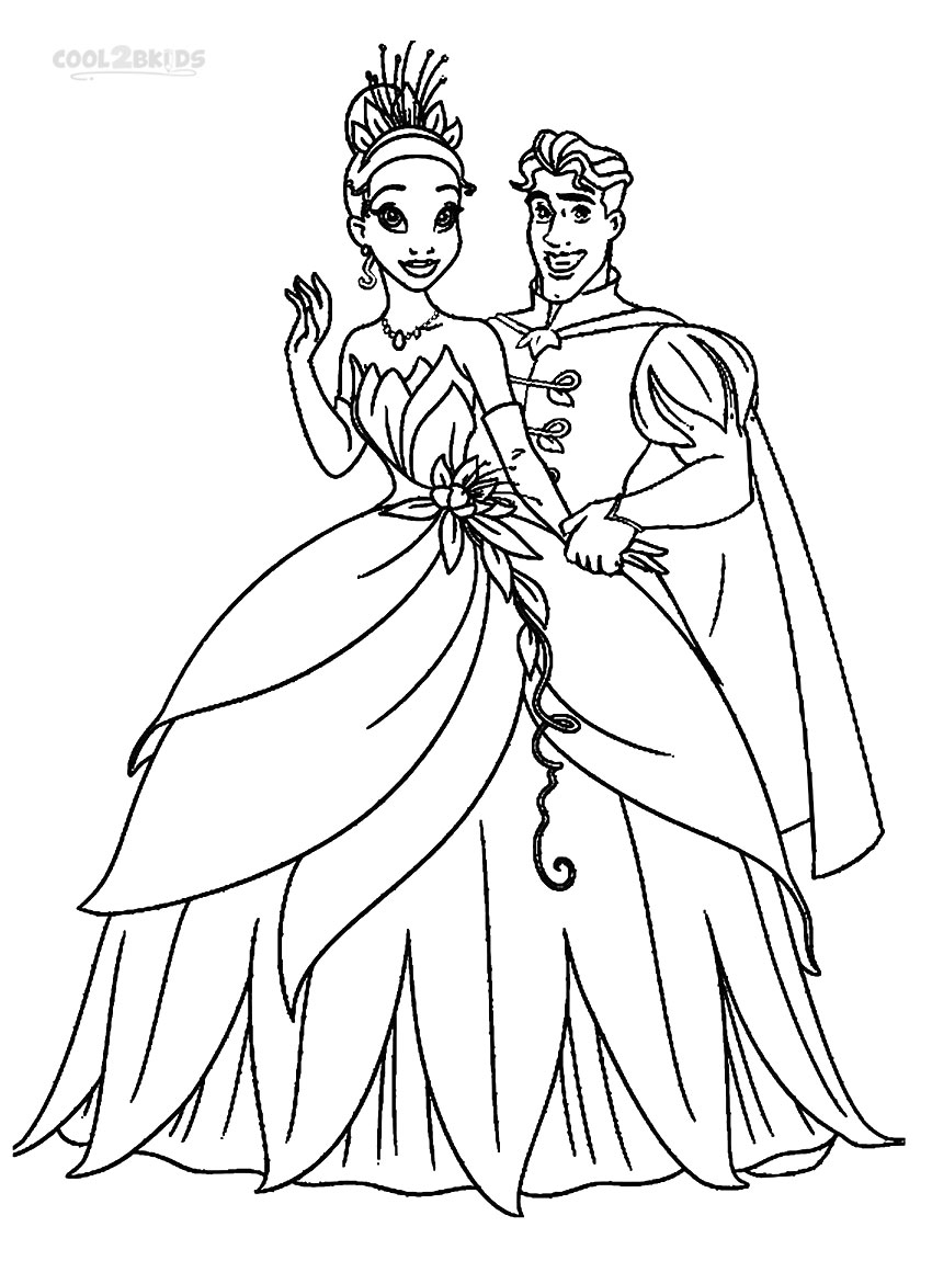 Princess And The Frog Coloring Pages To Download And Print
