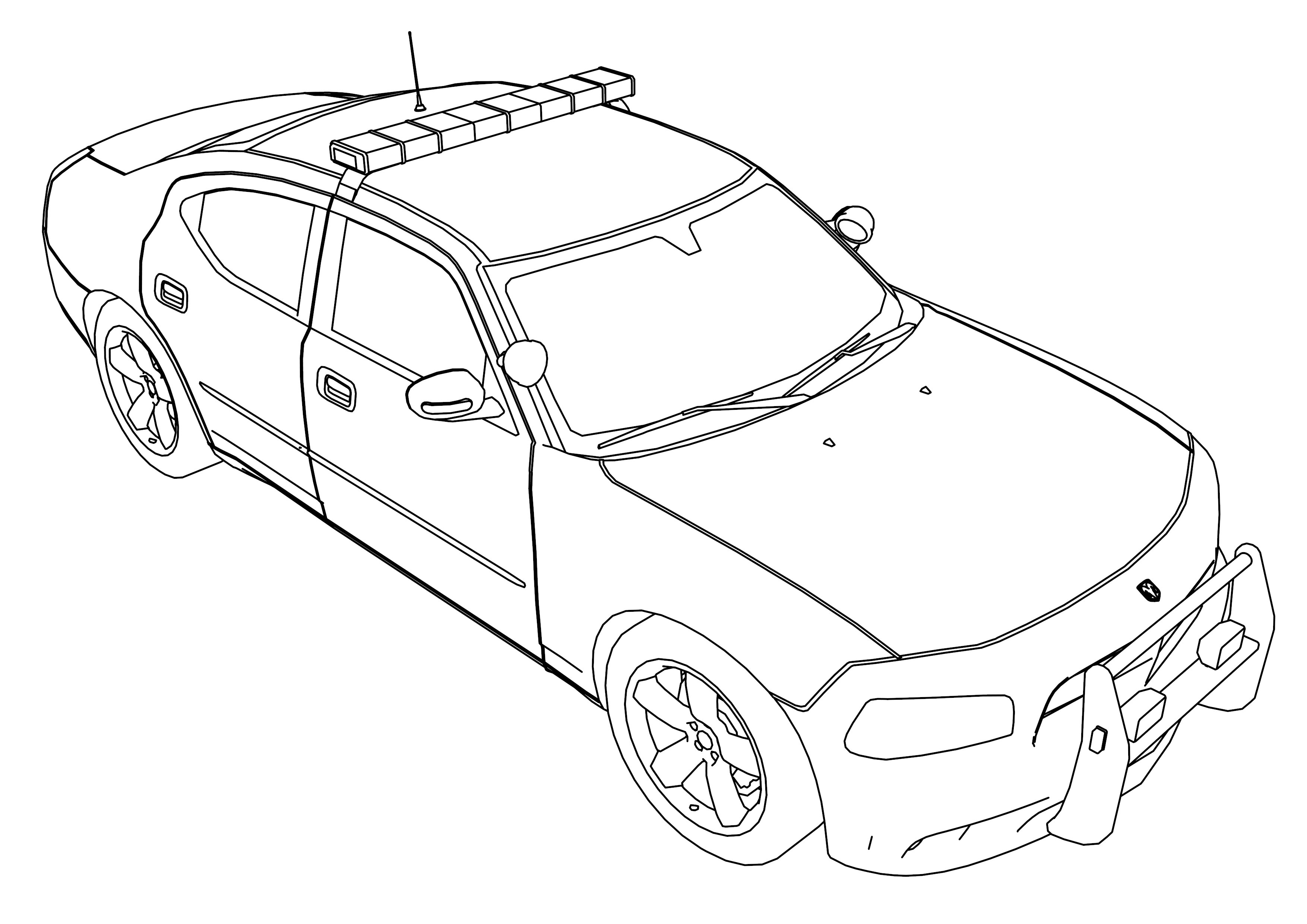 This is an image of Enterprising printable coloring pages of police cars