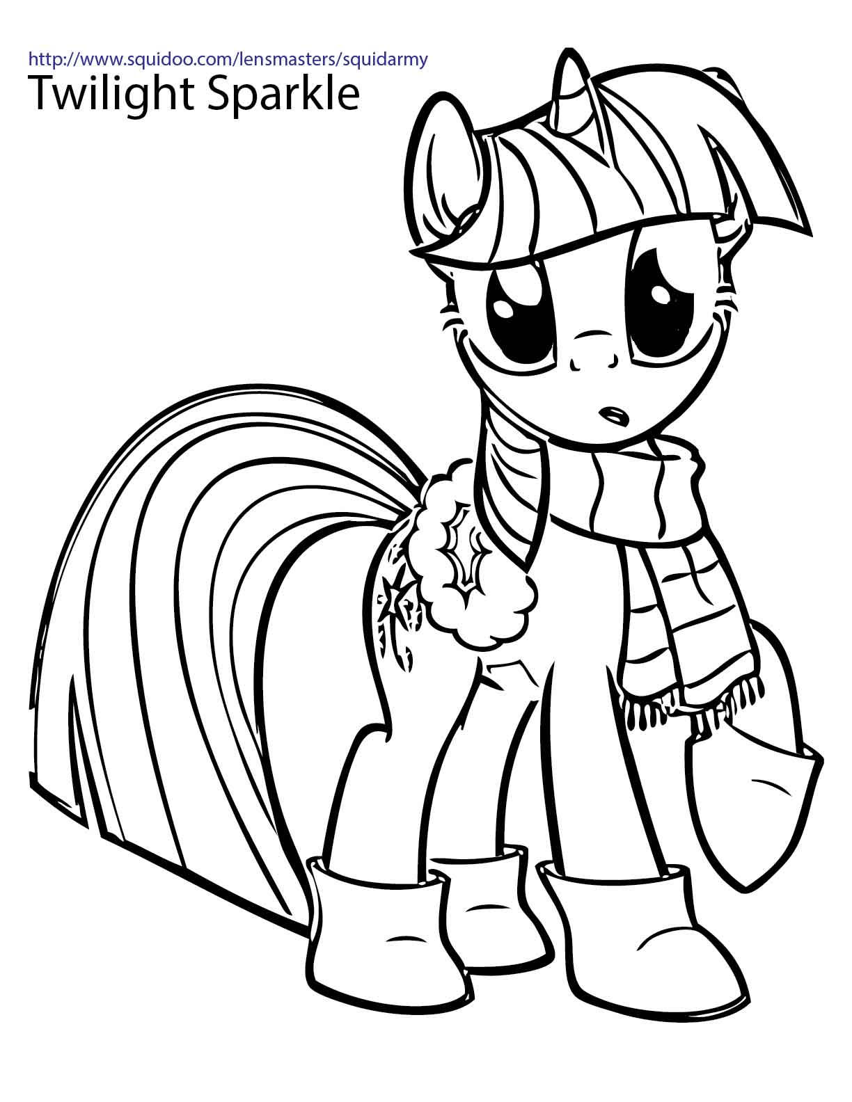 My little pony coloring pages christmas