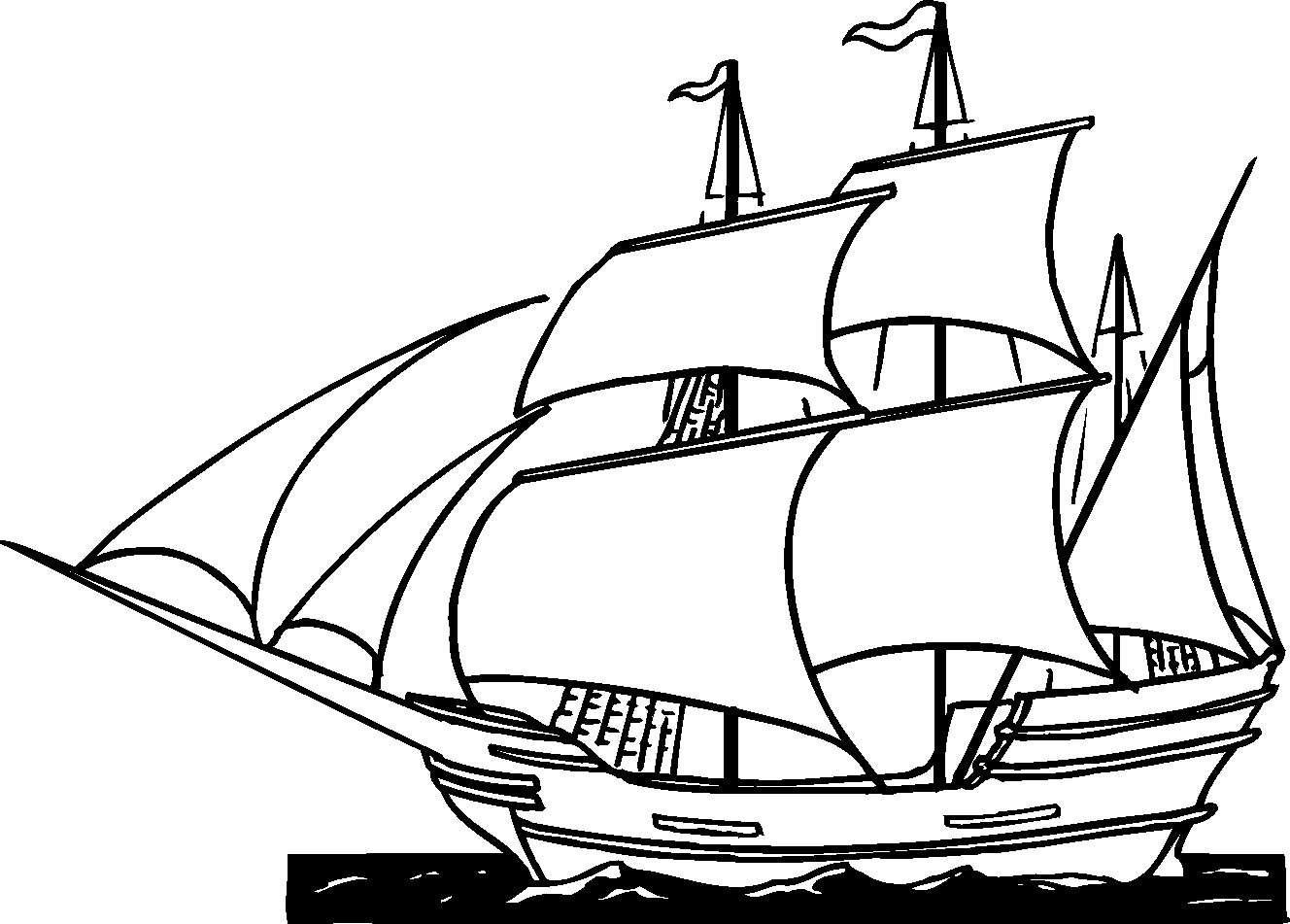 british sailing warship coloring pages - photo#37