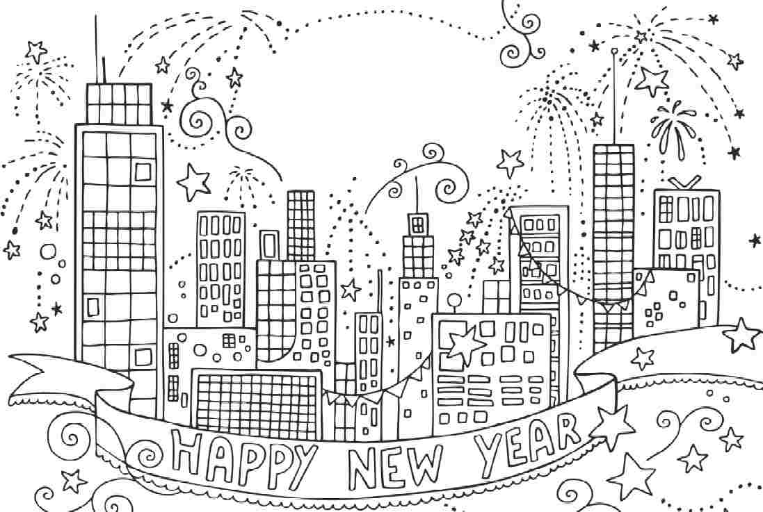 firework coloring pages - New York City Coloring Pages