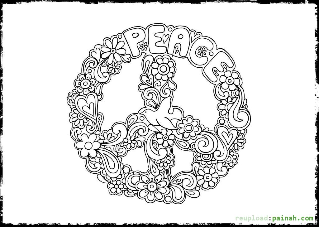 Peace coloring pages to download and print for free for Peace sign mandala coloring pages