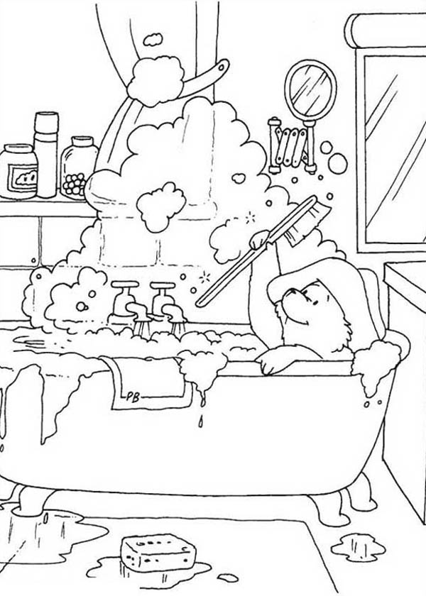 Paddington bear coloring pages to download and print for free