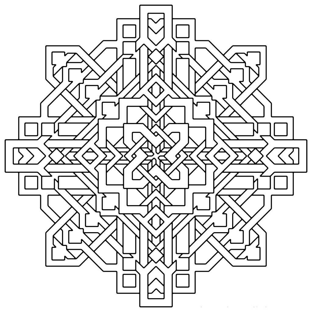 printable illusion coloring pages - photo#12