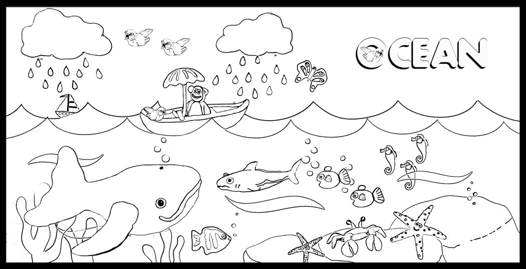 Ocean coloring pages to download