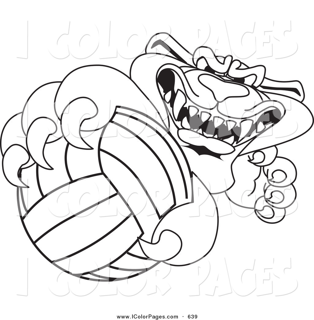 Coloring pages volleyball - 14_24 Coloring Pages For Volleyball On Volleyball Coloring Pages