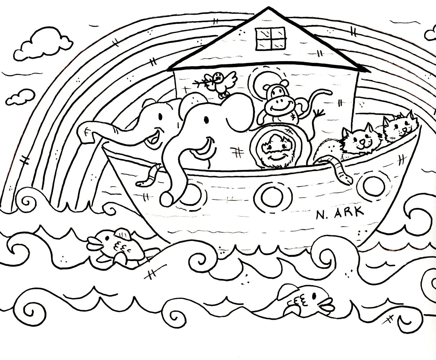 Noah ark coloring pages to download and print for free for Noah s ark printable coloring pages