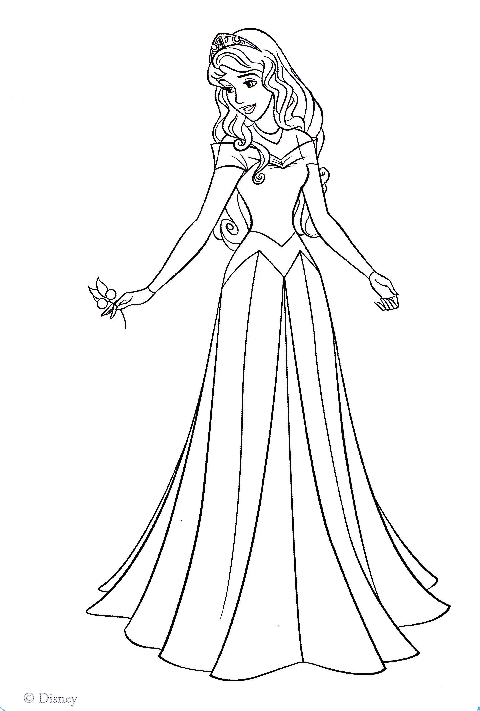 This is a photo of Striking Princess Aurora Coloring Pages