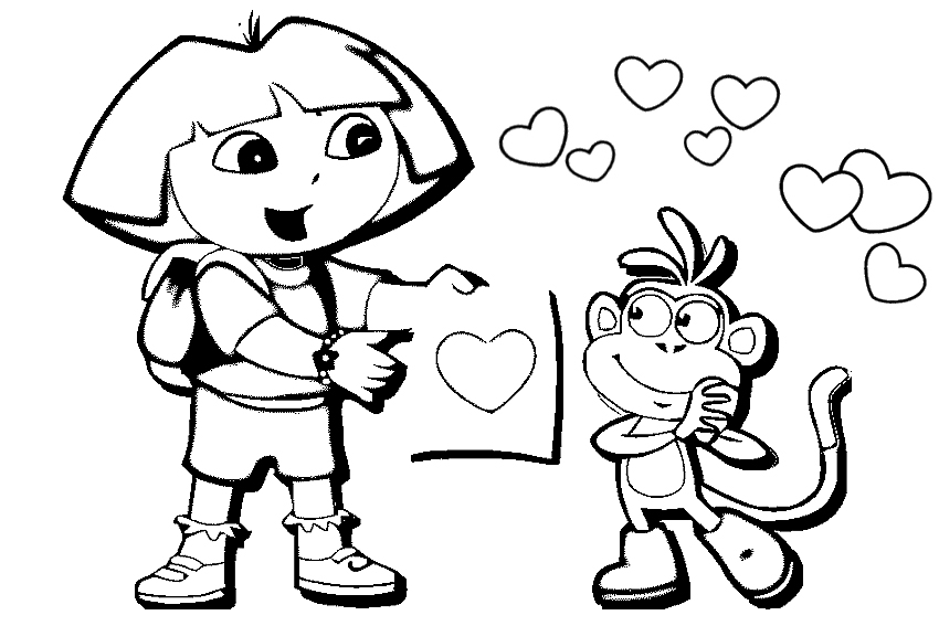 Coloring Pages Dora Beautiful And Friends Photos Kid