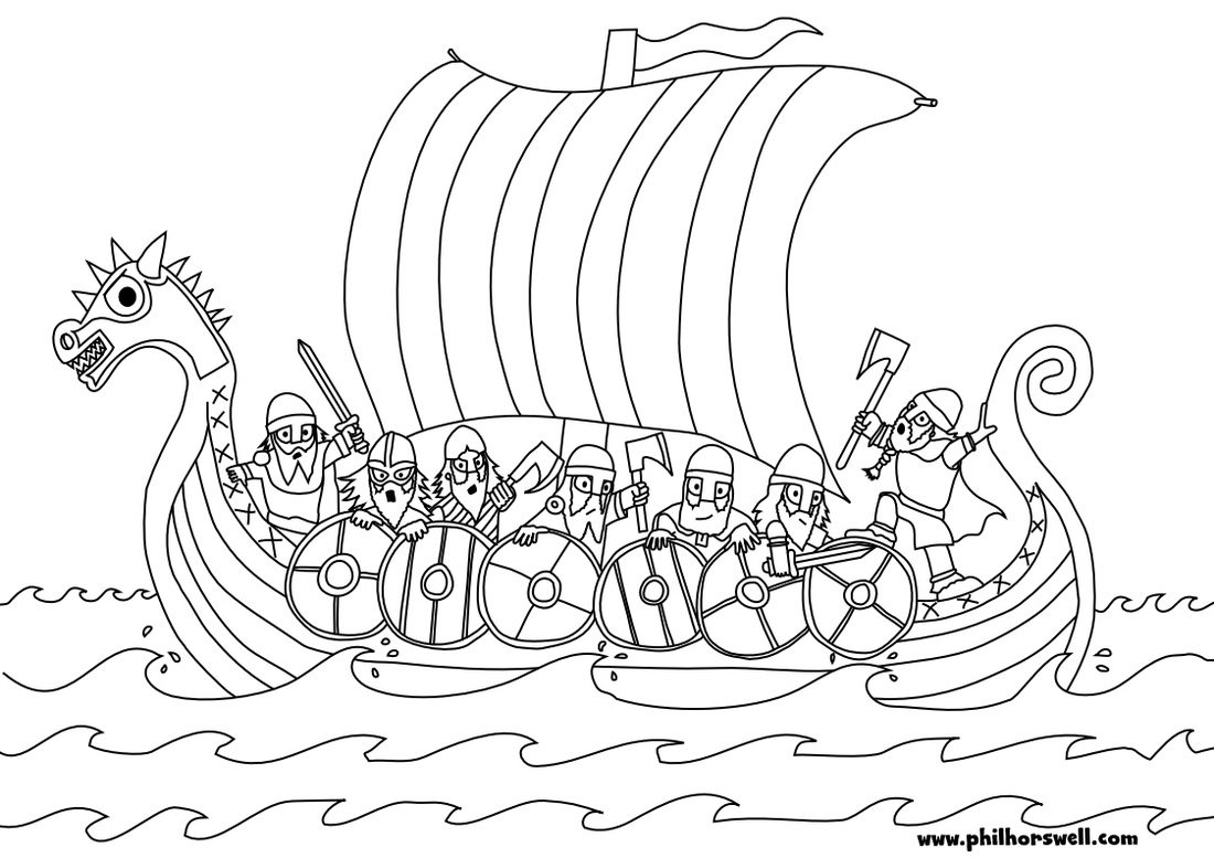Viking coloring pages to download
