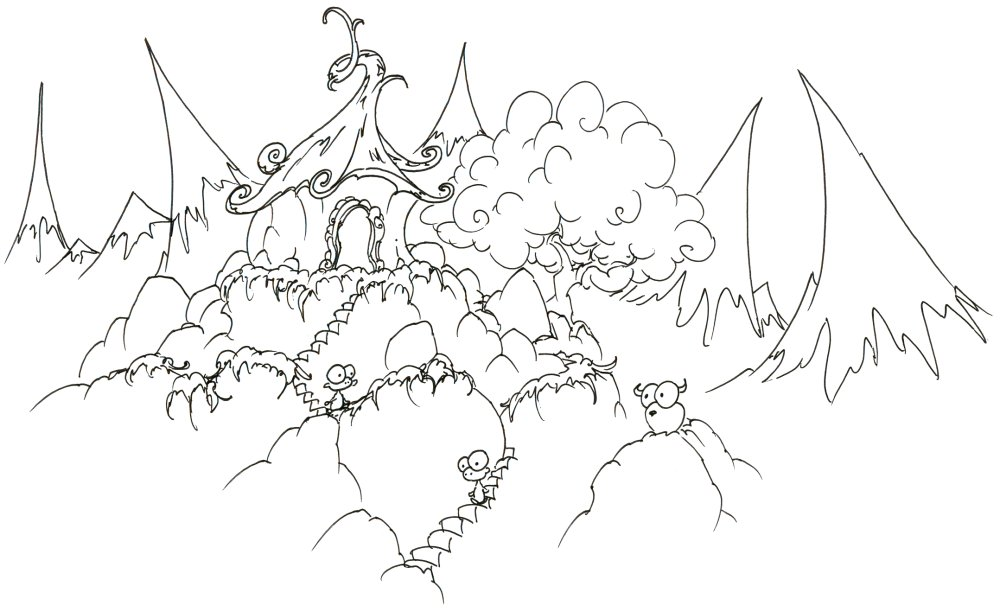 mountain coloring pages print - photo#17