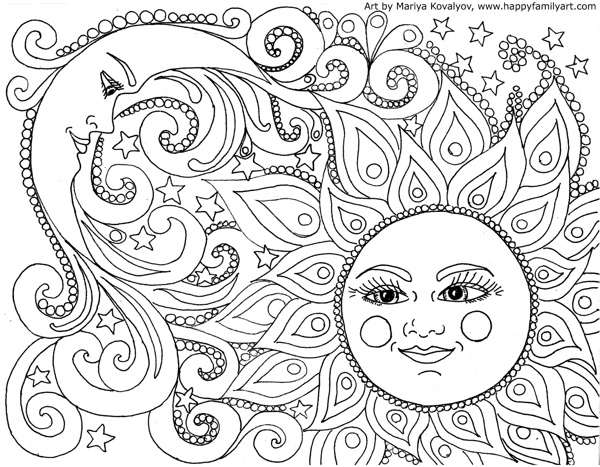 Moon coloring pages to download and print for free