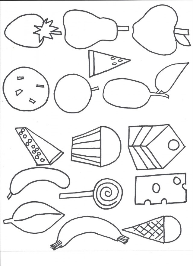 hungry caterpillar coloring pages to download and print for free