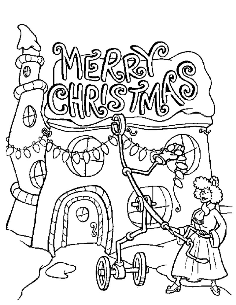 coloring pages christams - photo#17