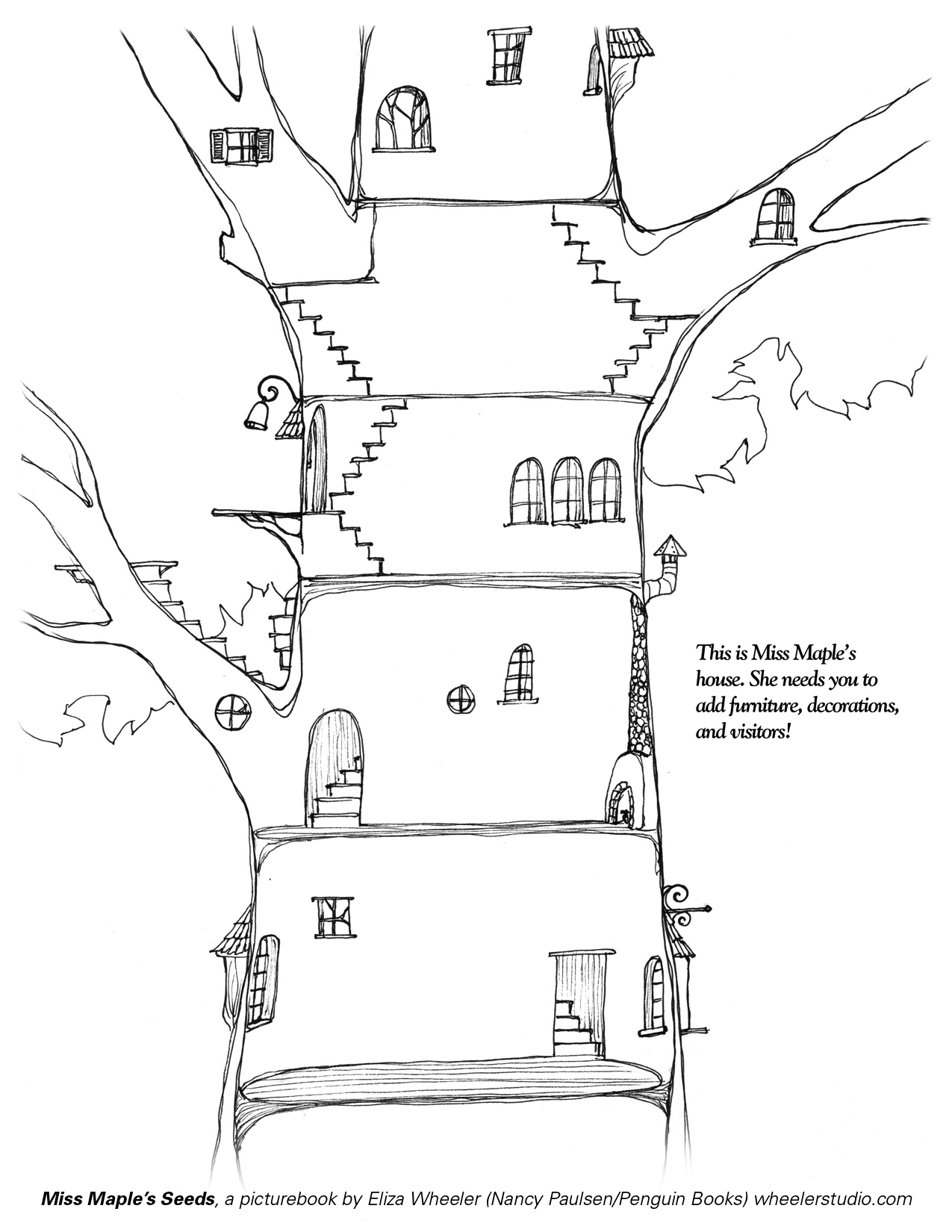 Magic tree house coloring pages to download and print for free
