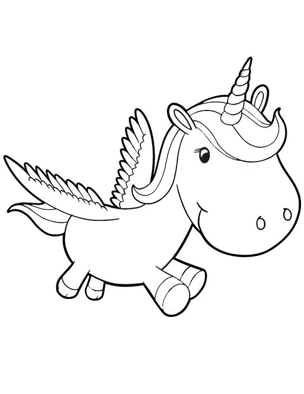 Unicorn coloring pages to download